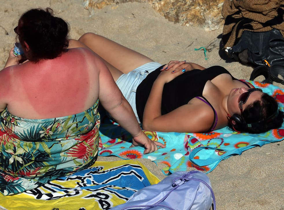 Burning issue: there has been a 500 per cent increase in the number of compensation claims for holiday sickness since 2013