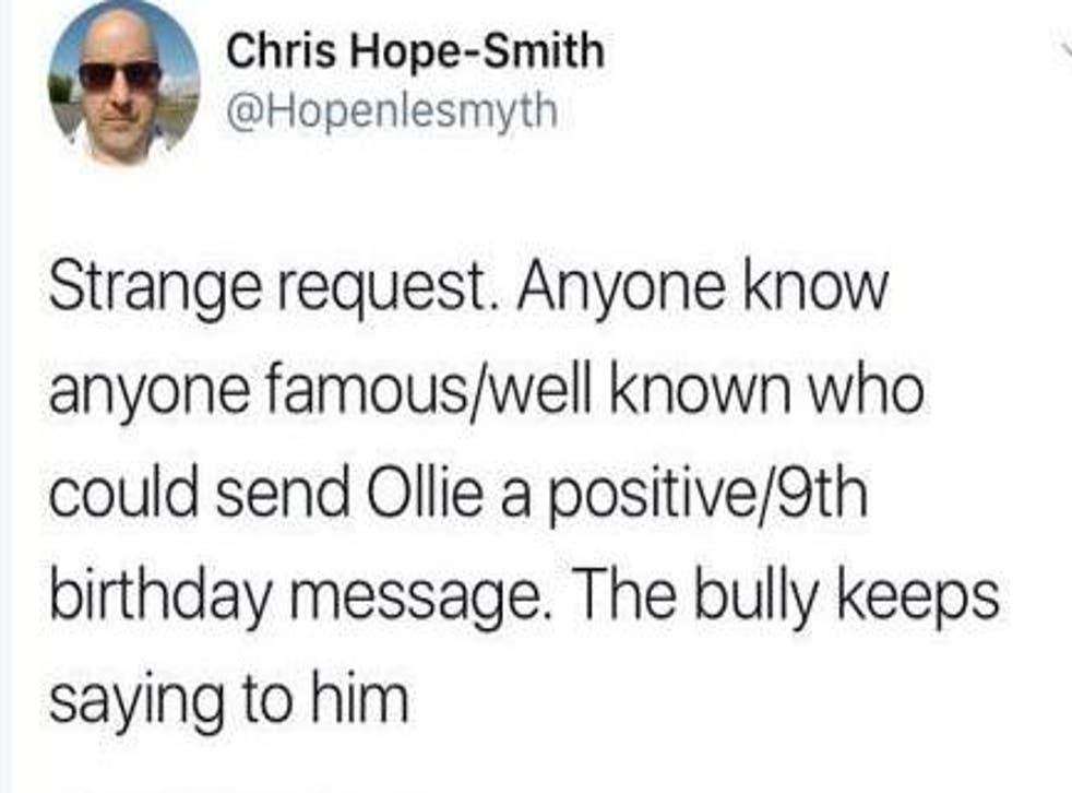 Chris Hope Smith's message was shared thousands of times