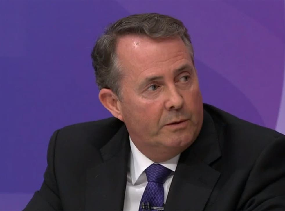 Liam Fox denied any split with the Chancellor over Brexit strategy
