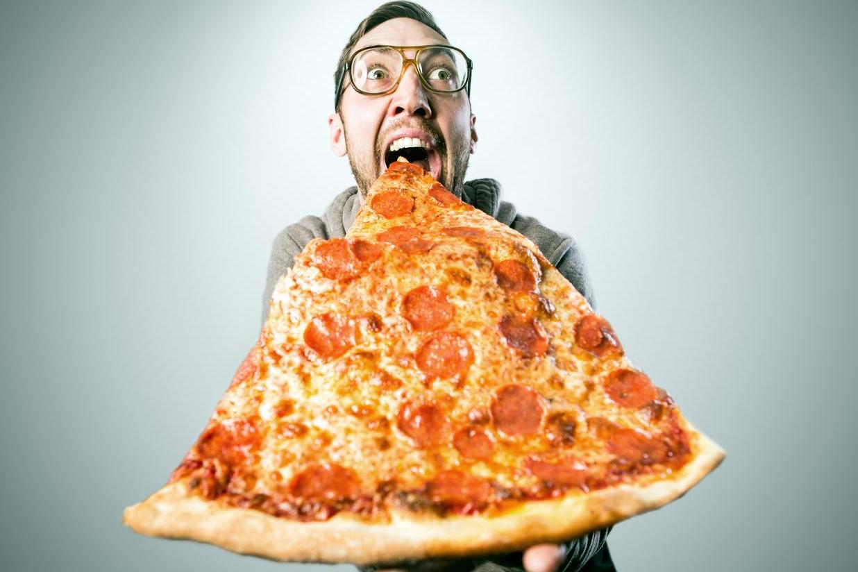 Image result for eating pizza