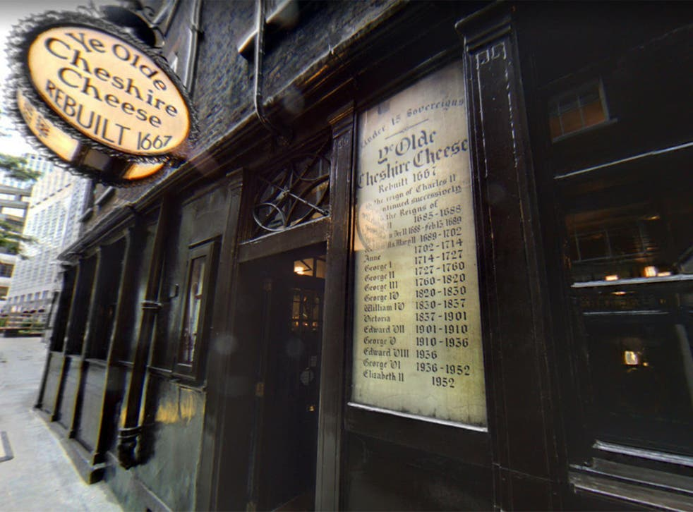 Ye Olde Cheshire Cheese in London once boasted Samuel Johnson and Arthur Conan Doyle as regulars