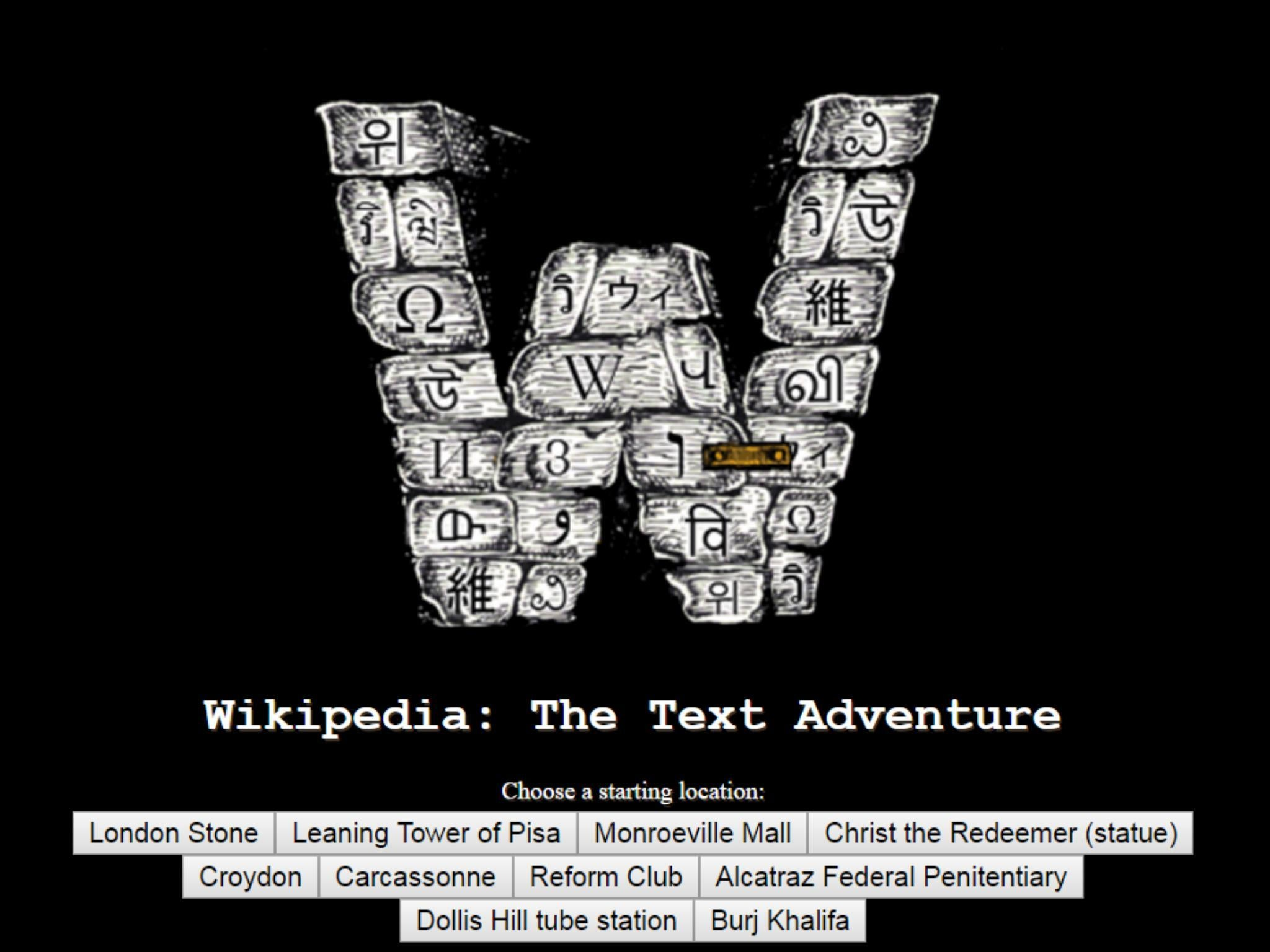 Wikipedia adventure game is a fun way to learn everything in the ...