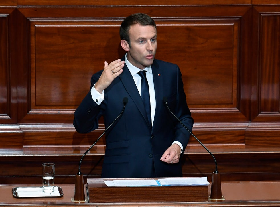Emmanuel Macron Sets Out Vision For France In Extraordinary Congress In Versailles The Independent The Independent