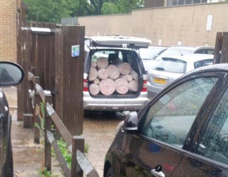 Man spots doner kebab meat being transported like rolls of carpet in 'sweaty' van