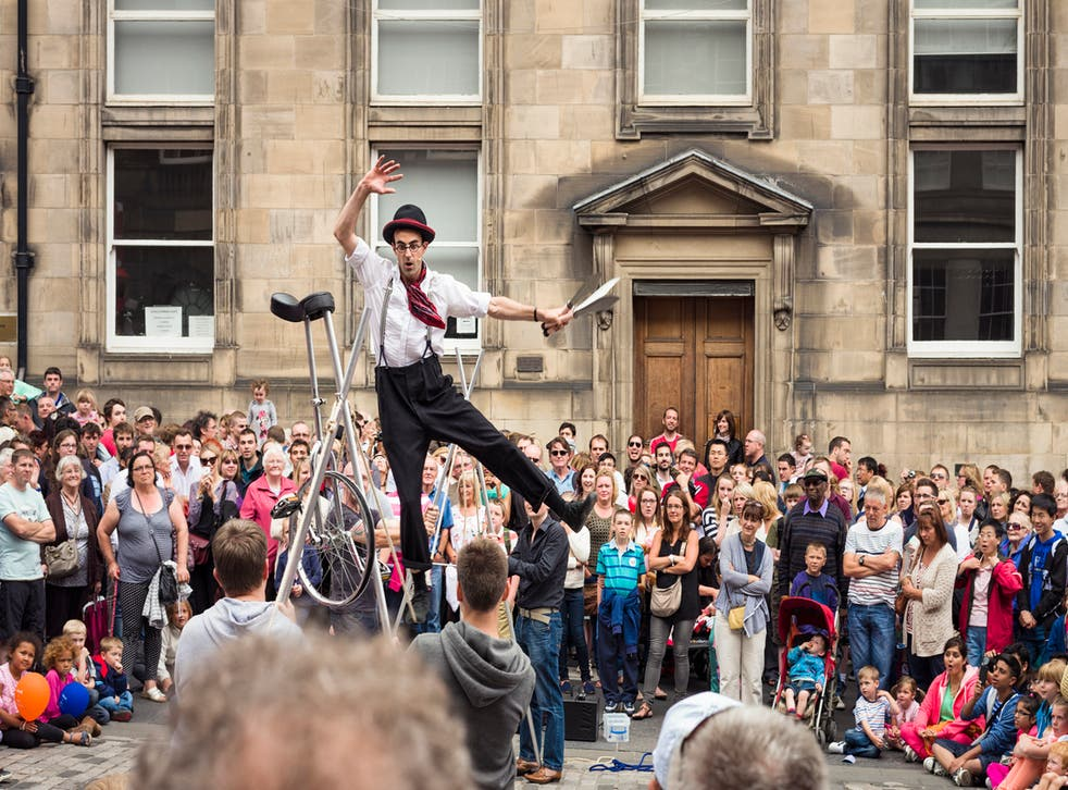 The Edinburgh Fringe Festival spills out across the streets of the city every August