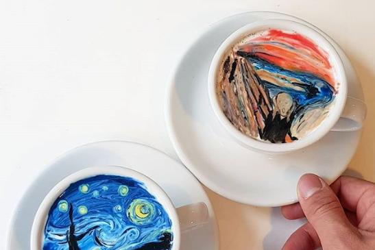 South Korean barista is recreating Vincent Van Gogh on lattes