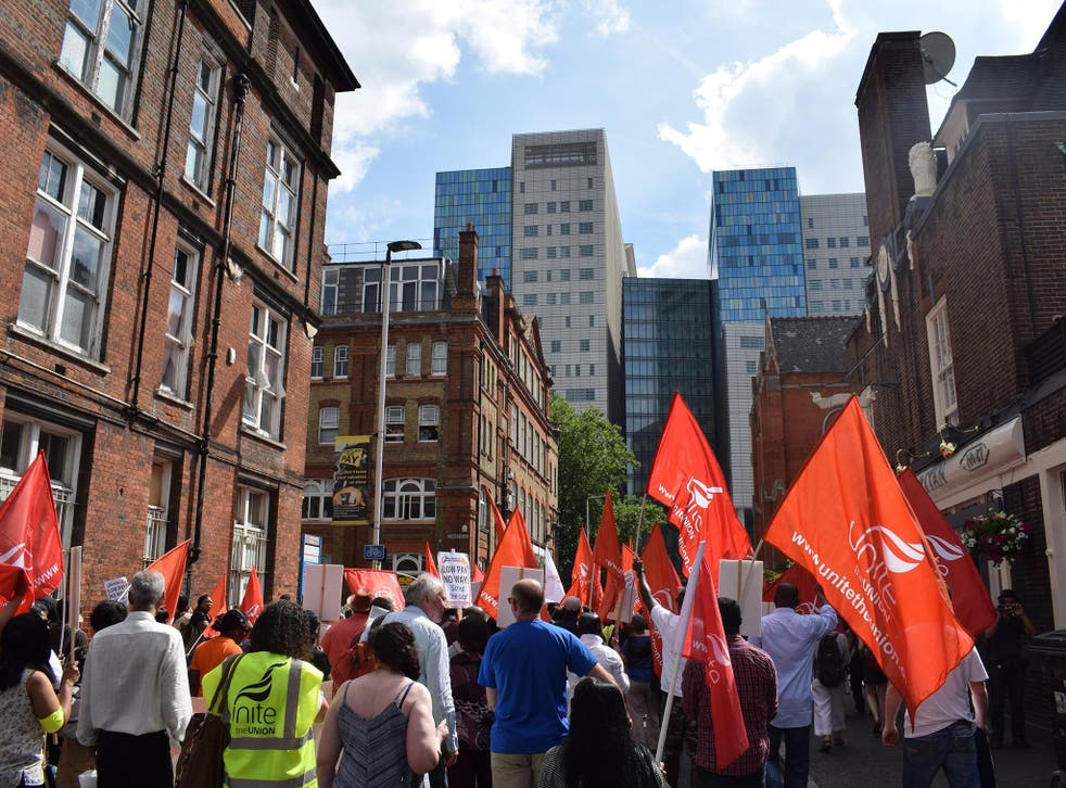 Cleaners, porters, caterers and security staff from St Barts Trust's hospitals have begun their first period of official industrial action