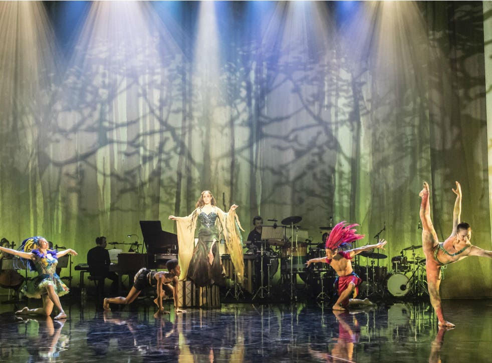 Sisters Grimm performing 'Voices of the Amazon' at Sadler's Wells
