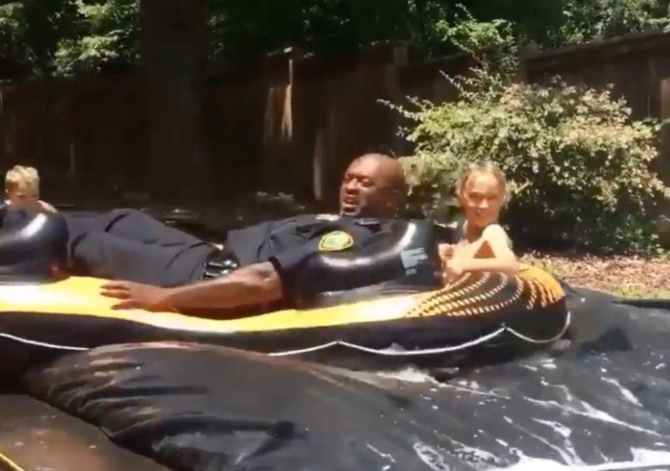 Police respond to a noise complaint and end up joining the block