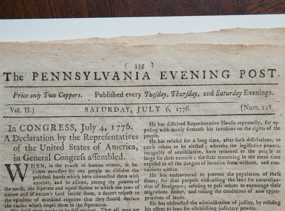 what year did the u. s. declare independence