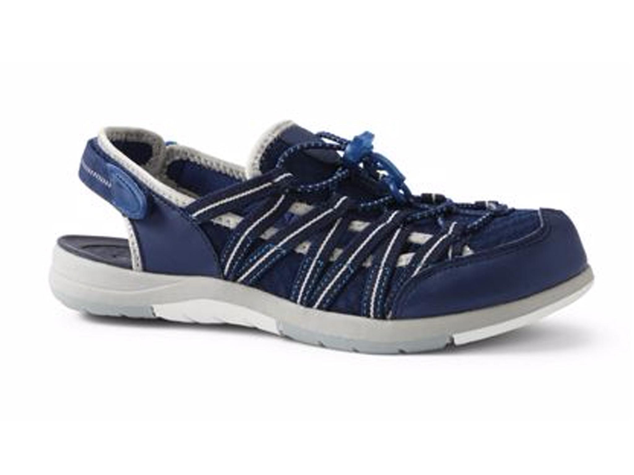 Womens Regular Water Sandals - 7 - BLUE Lands End Bp4grQAD