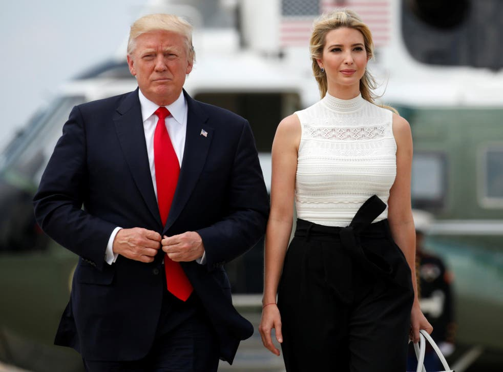 US President Donald Trump and his daughter and senior adviser Ivanka Trump