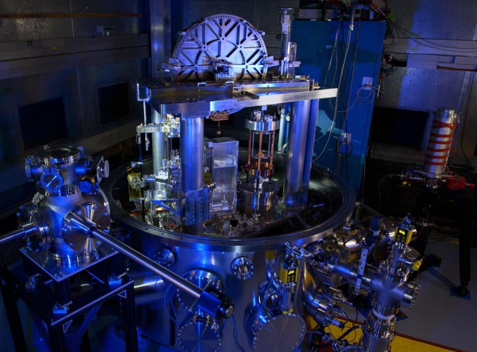 The NIST-4 Kibble balance. The instrument was used to calculate Planck's constant, an important step toward redefining the kilogram