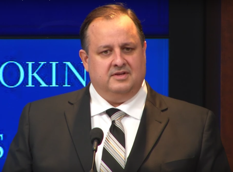 Former Office for Government Ethics Director Walter Shaub speaks at a Brookings Institution event