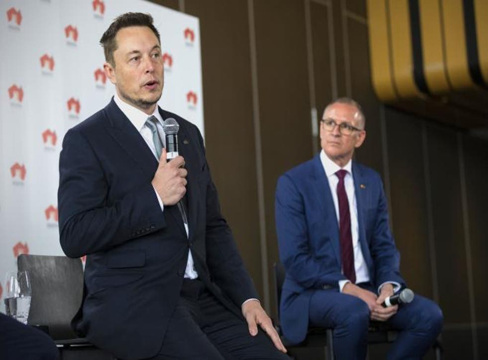 Tesla CEO Elon Musk said a failure to deliver the project in time would cost his company '$50m or more'