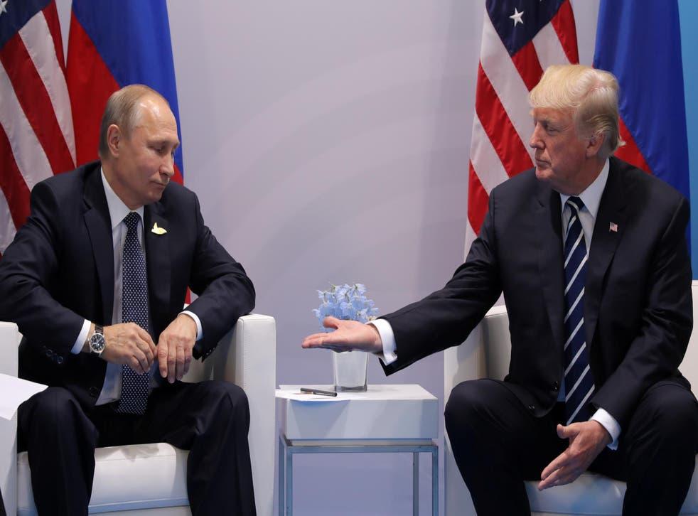 Mr Trump and Mr Putin apparently had 'positive chemistry'