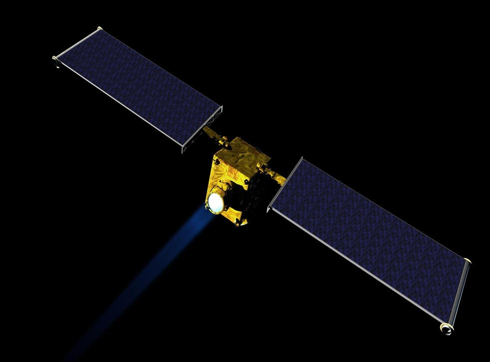 Artist concept of NASA's Double Asteroid Redirection Test (DART) spacecraft