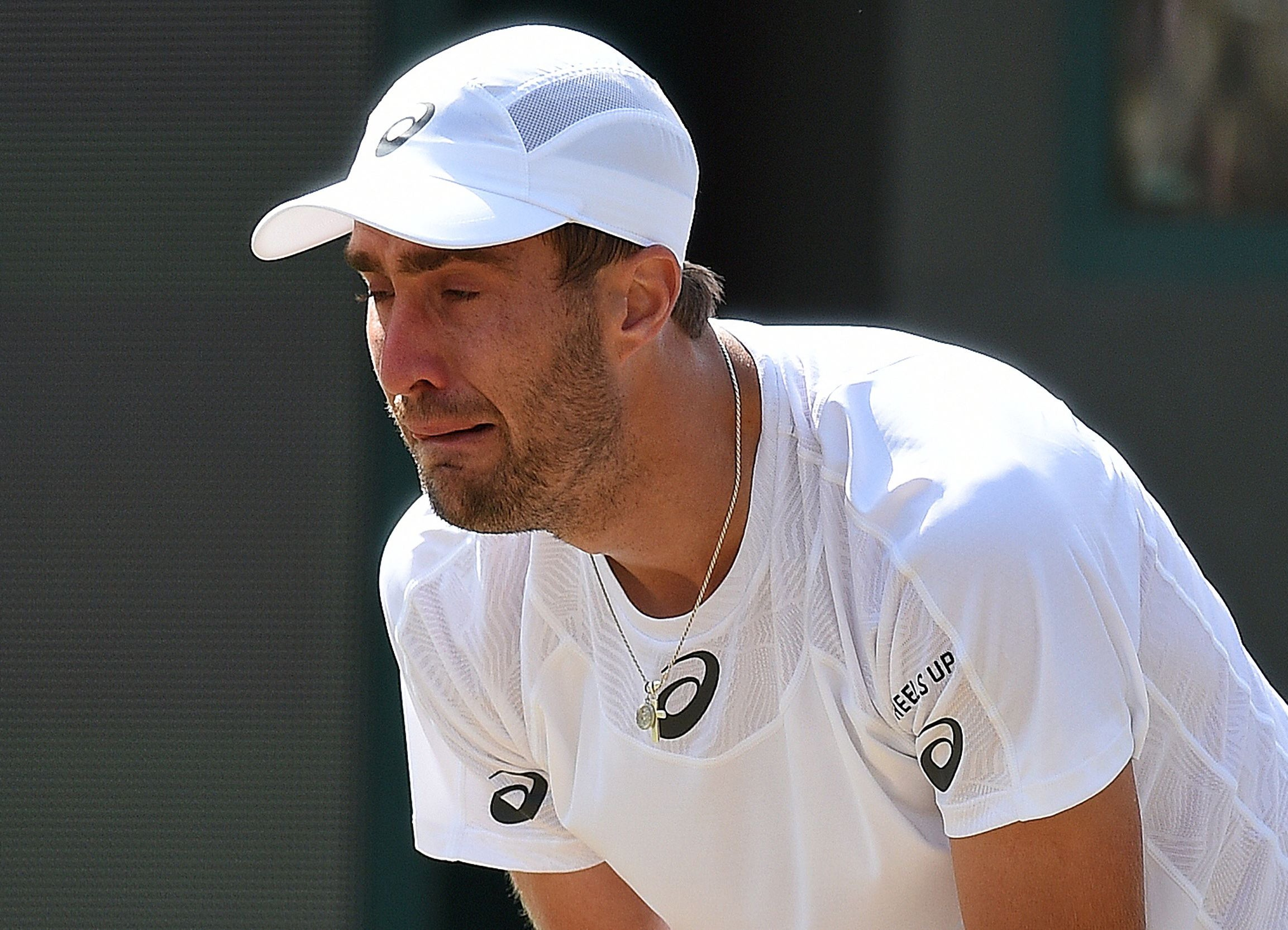 Steve Johnson breaks down in tears against Marin Cilic at his
