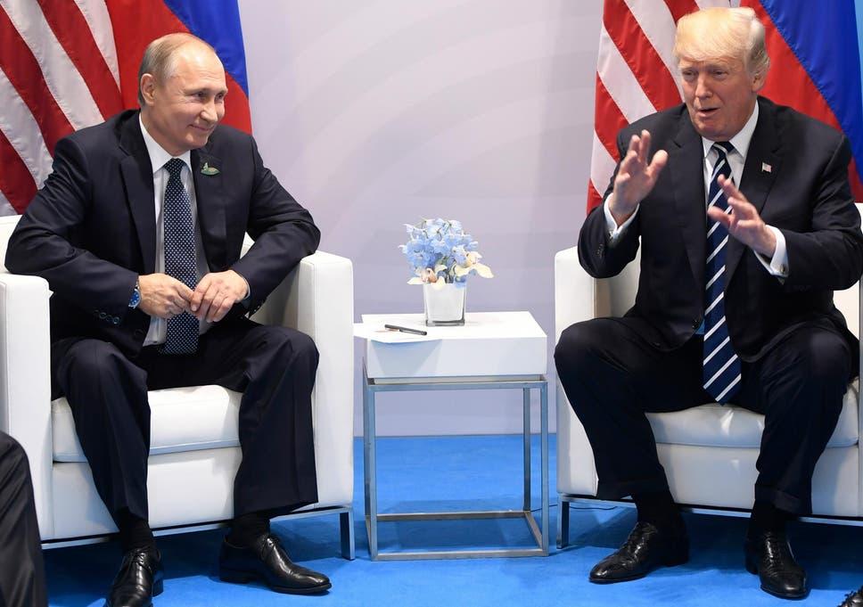 Amidst huge tension Trump & Putin met for a Summit