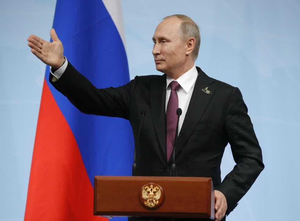 Mr Putin said he believed Mr Trump believed his denials