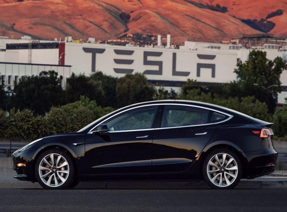 The first Model 3 to roll off Tesla's production line