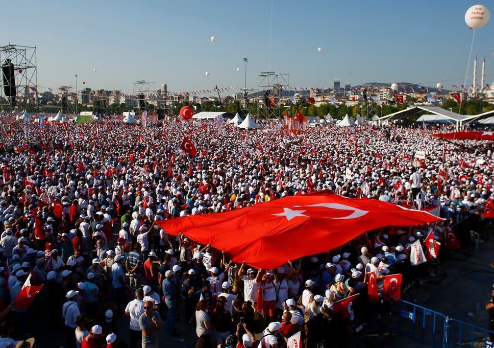 thousands gather in istanbul to protest against turkish president