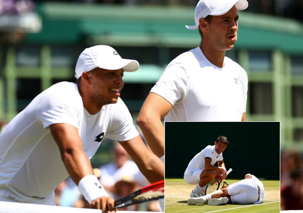 afd87e85a9d Marcus Willis and Jay Clarke do some damage before their Wimbledon ...