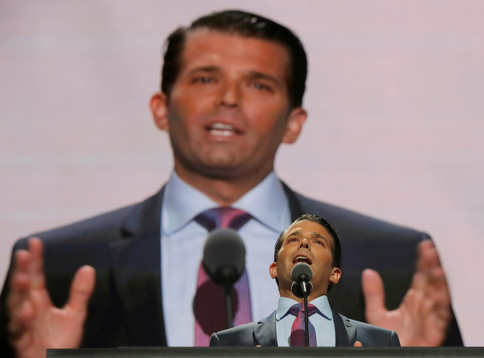 Donald Trump Jr. speaks at the 2016 Republican National Convention