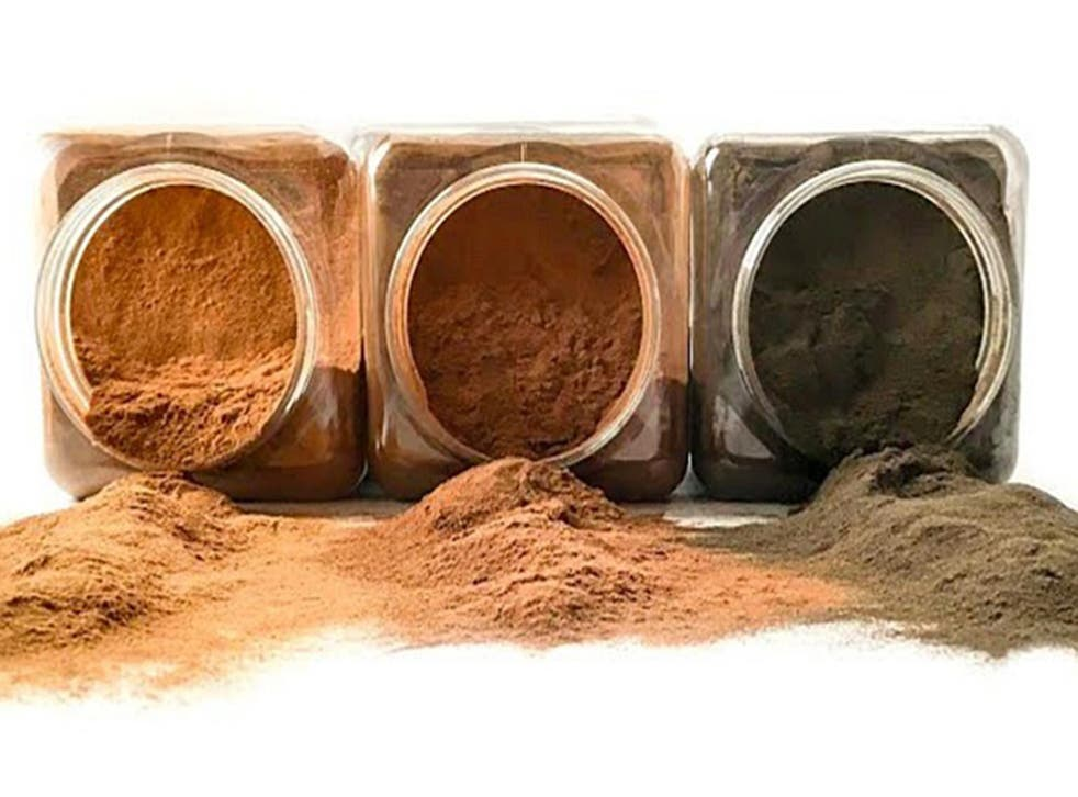 The Coffee Flour has a trace of caffeine and more antioxidants per gram than pomegranate.