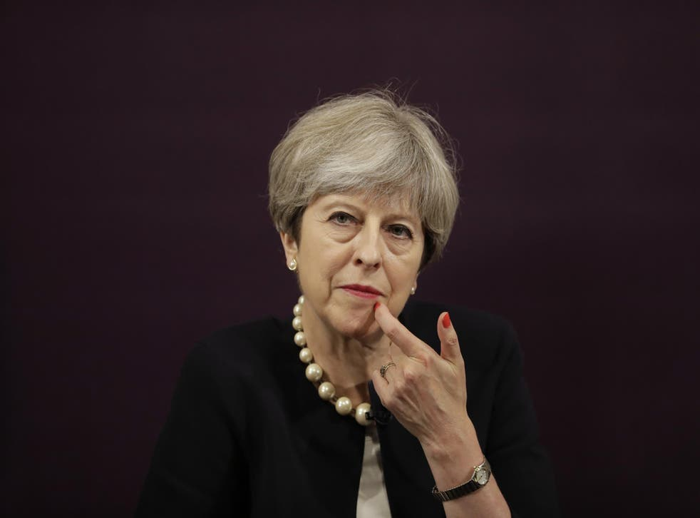 The Prime Minister at the launch of her employment practice proposals this week