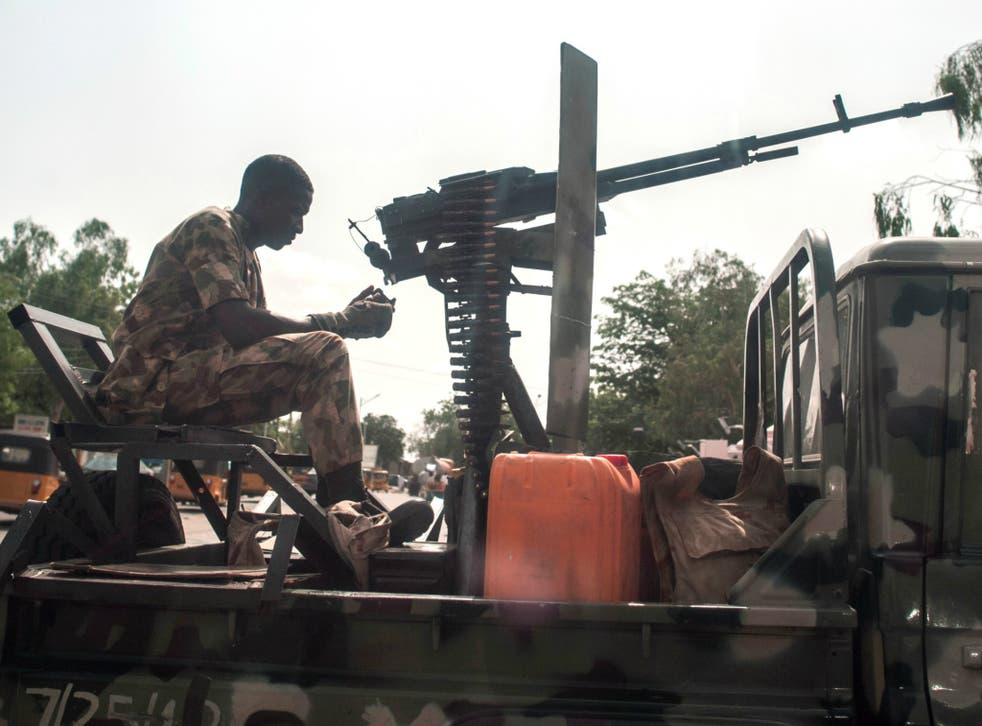 The army have defended against a number of Boko Haram attacks in Maiduguri (pictured previously)