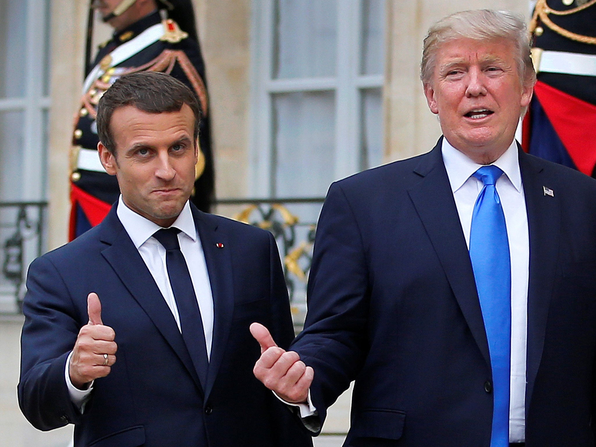 Image result for trump and macron, photos
