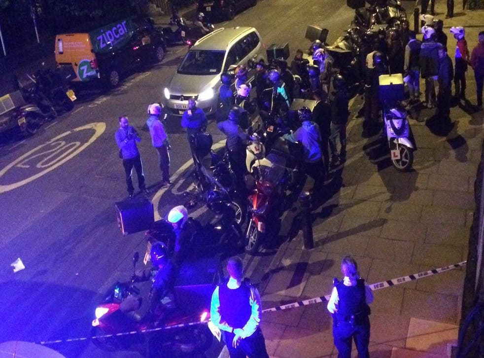 A Deliveroo moped rider was among those attacked during a rampage that saw five people injured within 90 minutes in Hackney last month