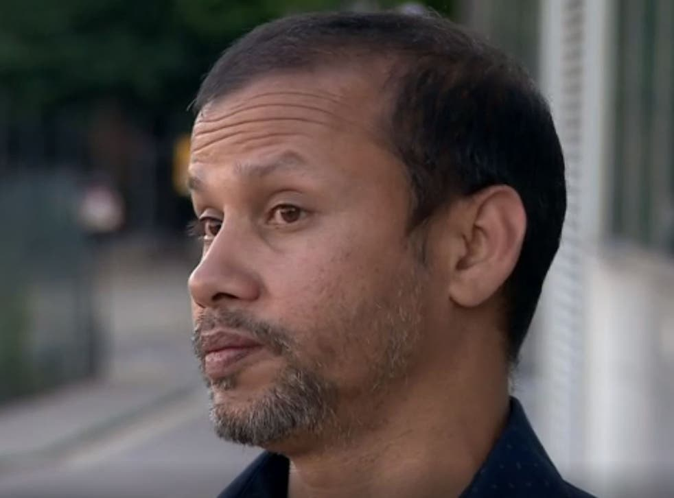 Delivery driver Jabed Hussain was targeted during a spate of acid attacks