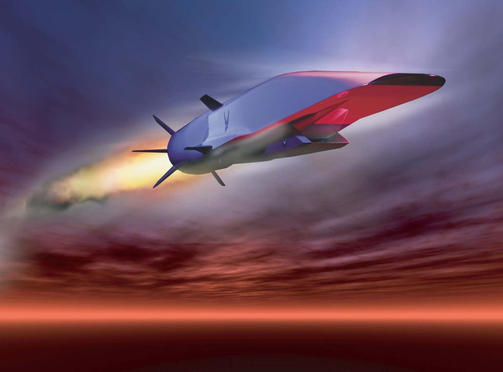 The X-51A Waverider, a prototype for a hypersonic missile, is designed to accelerate to about 7,700mph