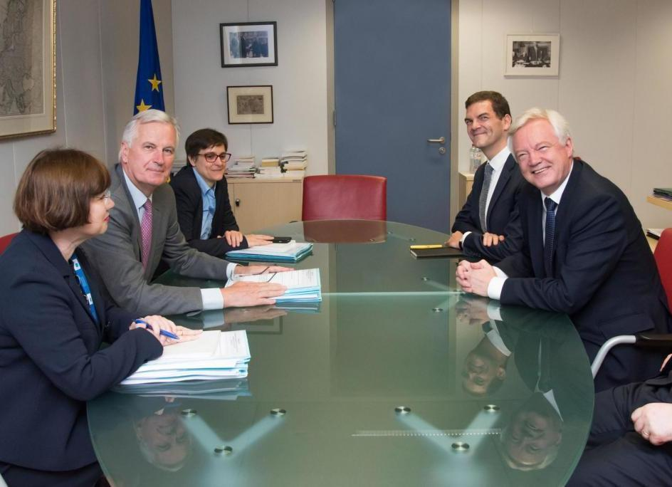 Image result for barnier and davis first meeting