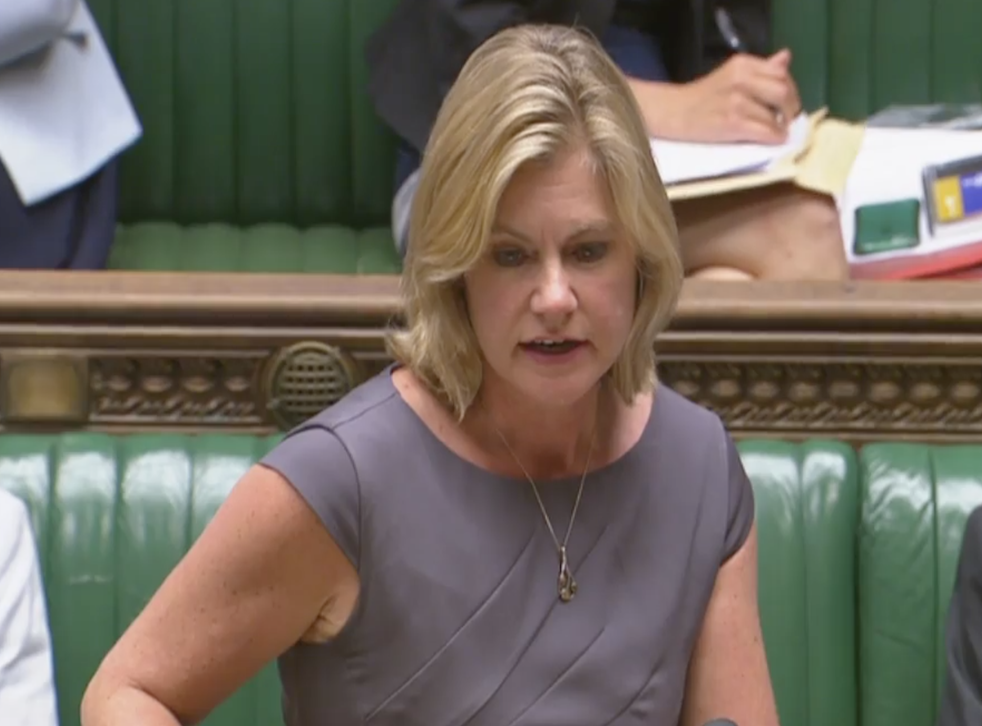 Ms Greening was also pressed to match Labour's commitment to set aside £10m to end menstrual deprivation in England