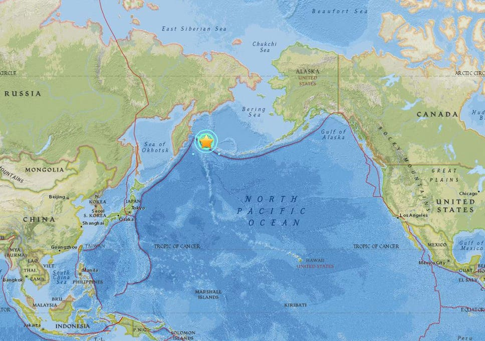 Russia Earthquake Magnitude 7 8 Quake Off Far East Coastline