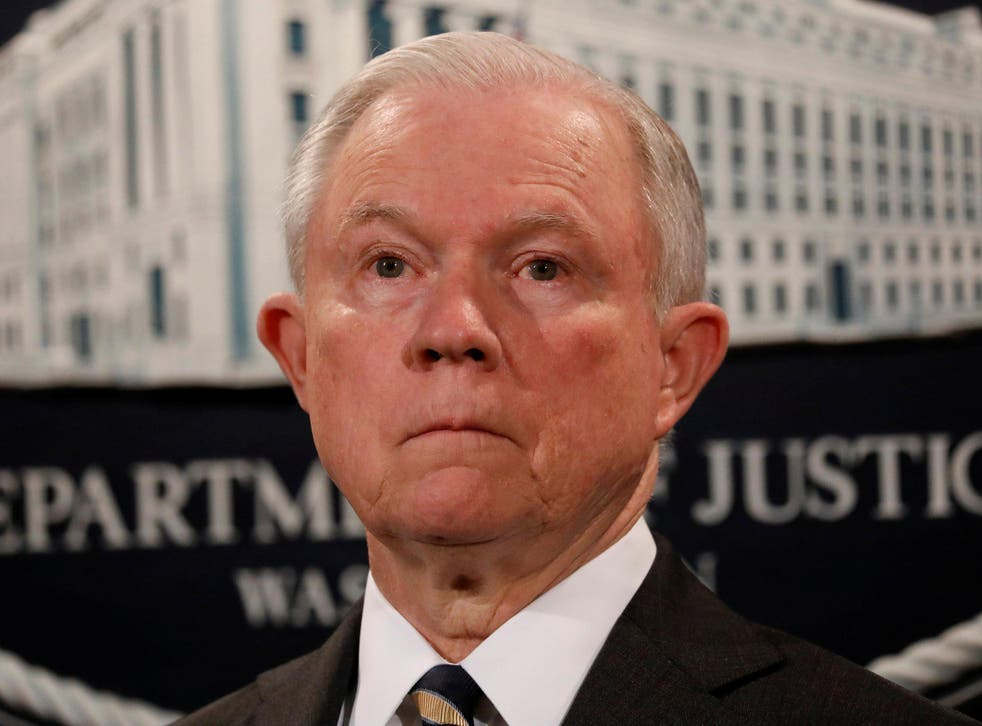 US Attorney General Jeff Sessions