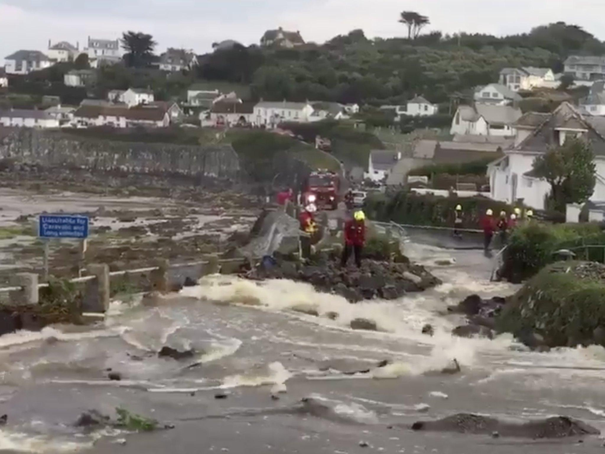 Thumbnail for Cornwall flooding: Massive flash flood hits Cornish village, destroying homes