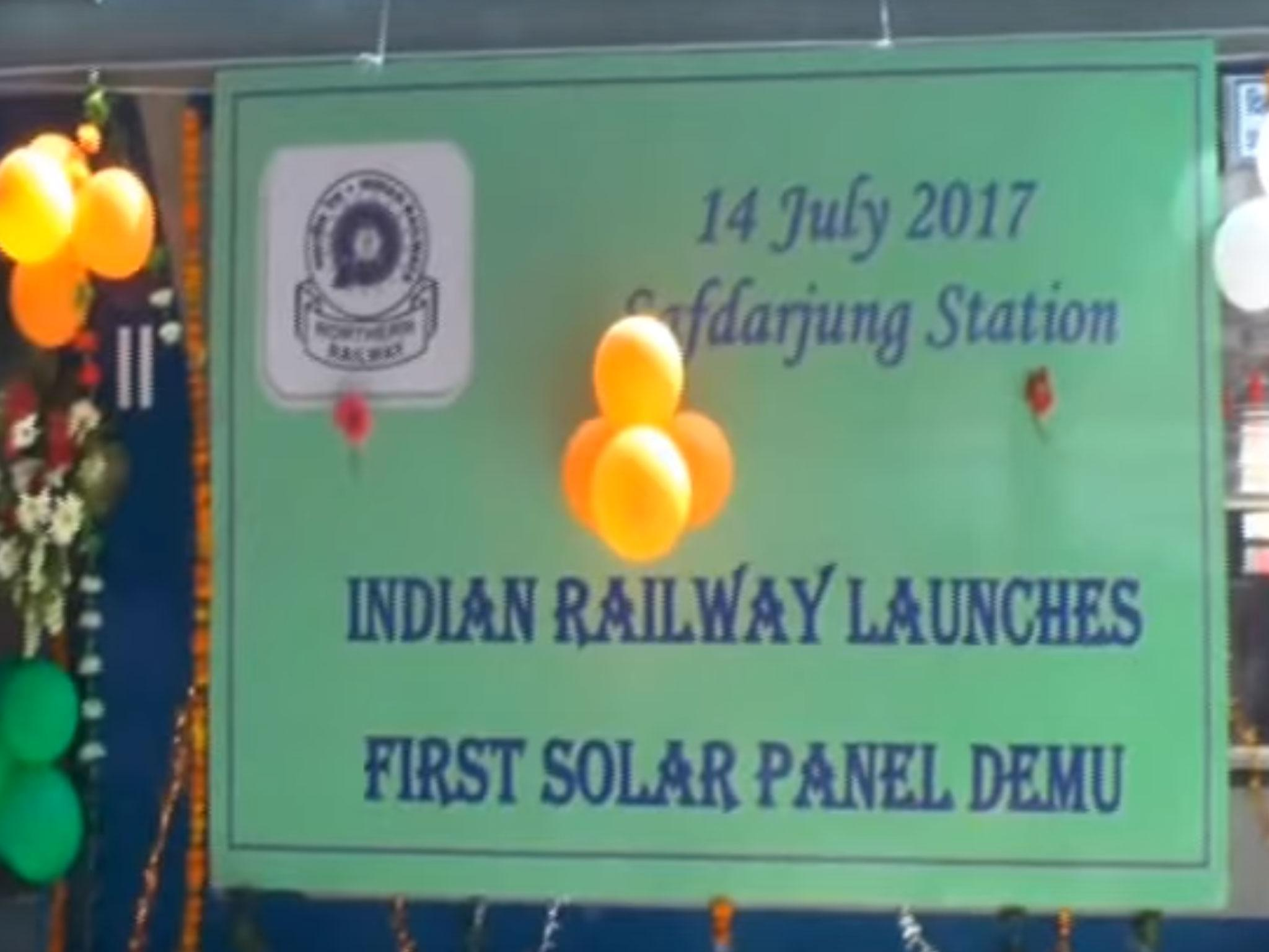 India launches first solar-panelled train in bid to cut down diesel ...
