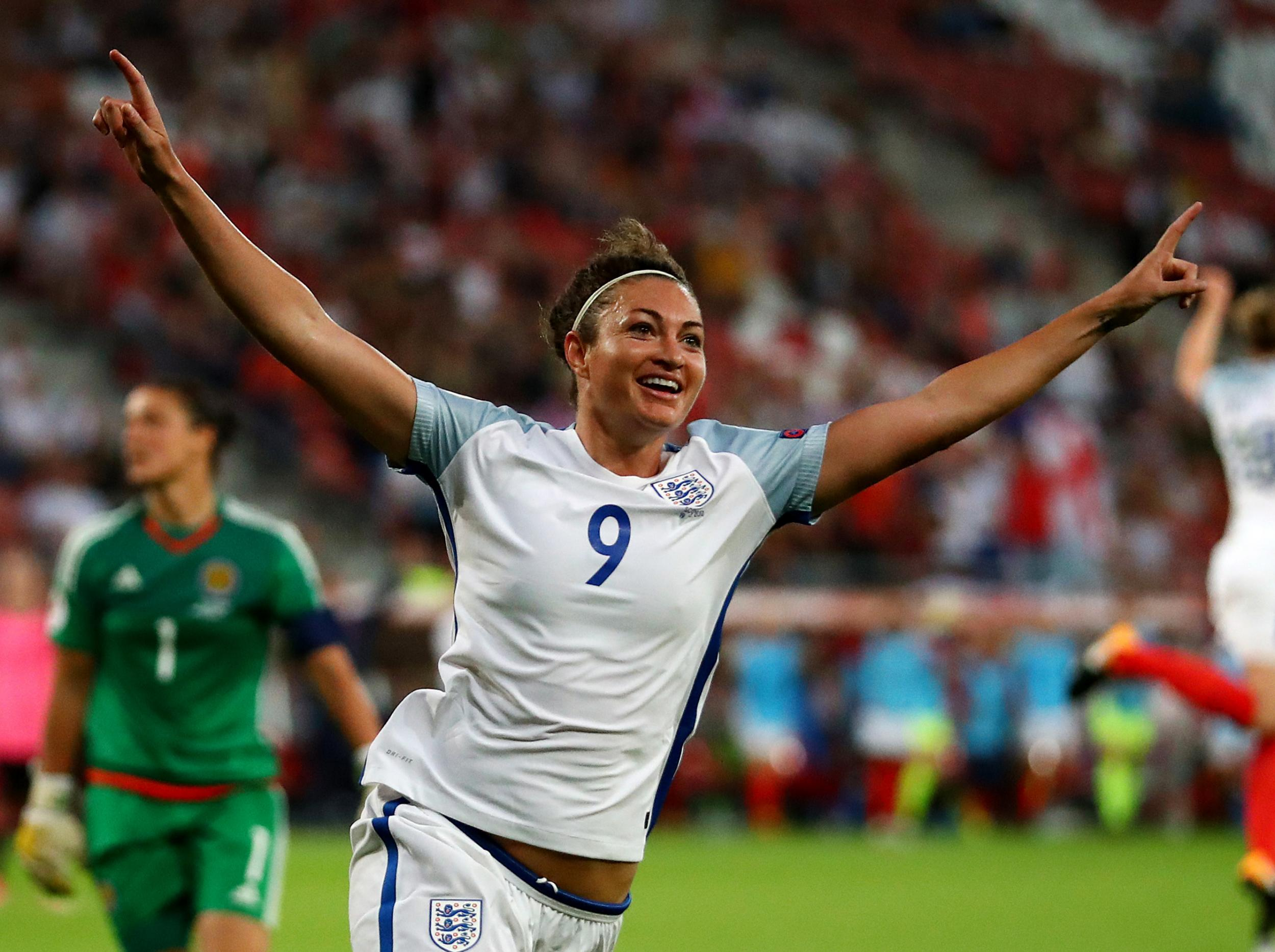 Jodie Taylor hits a hat-trick as England's Lionesses begin their Euro 2017 campaign by thumping the Auld Enemy