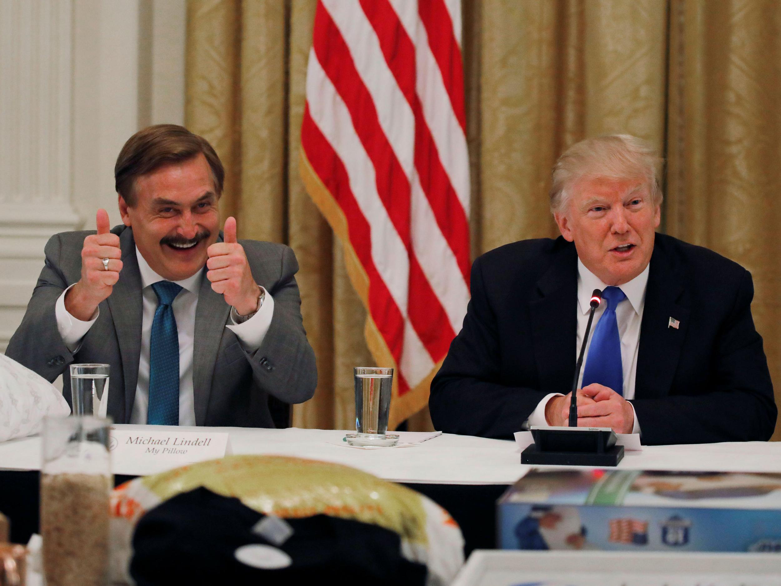 MyPillow CEO Mike Lindell brings notes to White House that suggest calling for 'martial law if necessary'