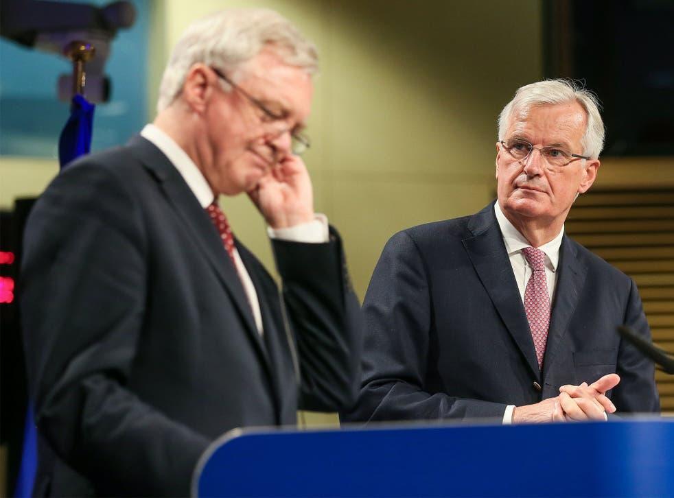 David Davis and EU chief negotiator Michel Barnier are not exactly making progress