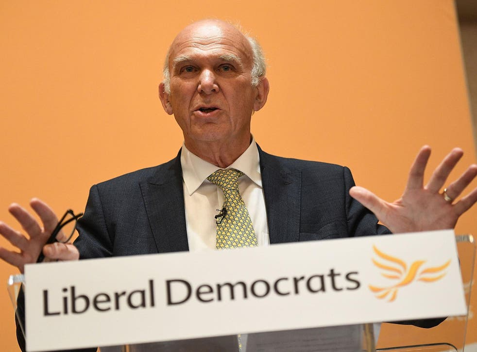 Vince Cable became leader after no other MP challenged him