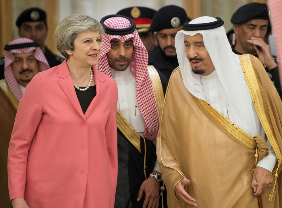 British Prime Minister Theresa May has been accused of suppressing a Home Office report into Saudi funding of religious extremism in order to protect arms deals