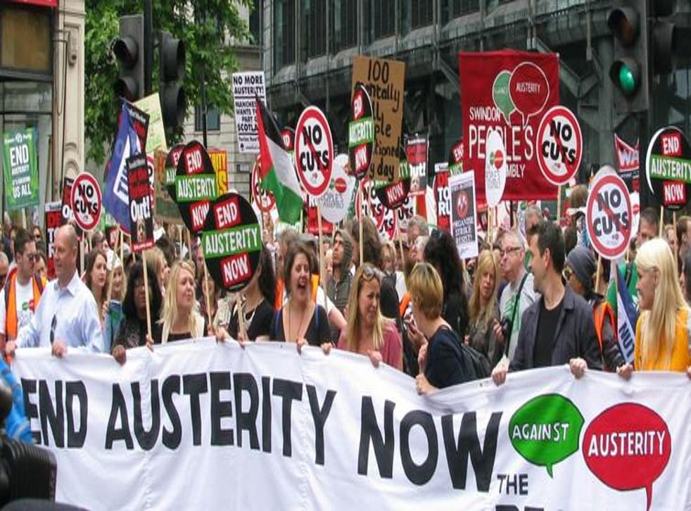 Thousands of people have taken to the streets in various protests to demand an end to the age of austerity, which has seen sweeping cuts to the people's benefits while many wages have remained stagnant and the cost of renting has soared
