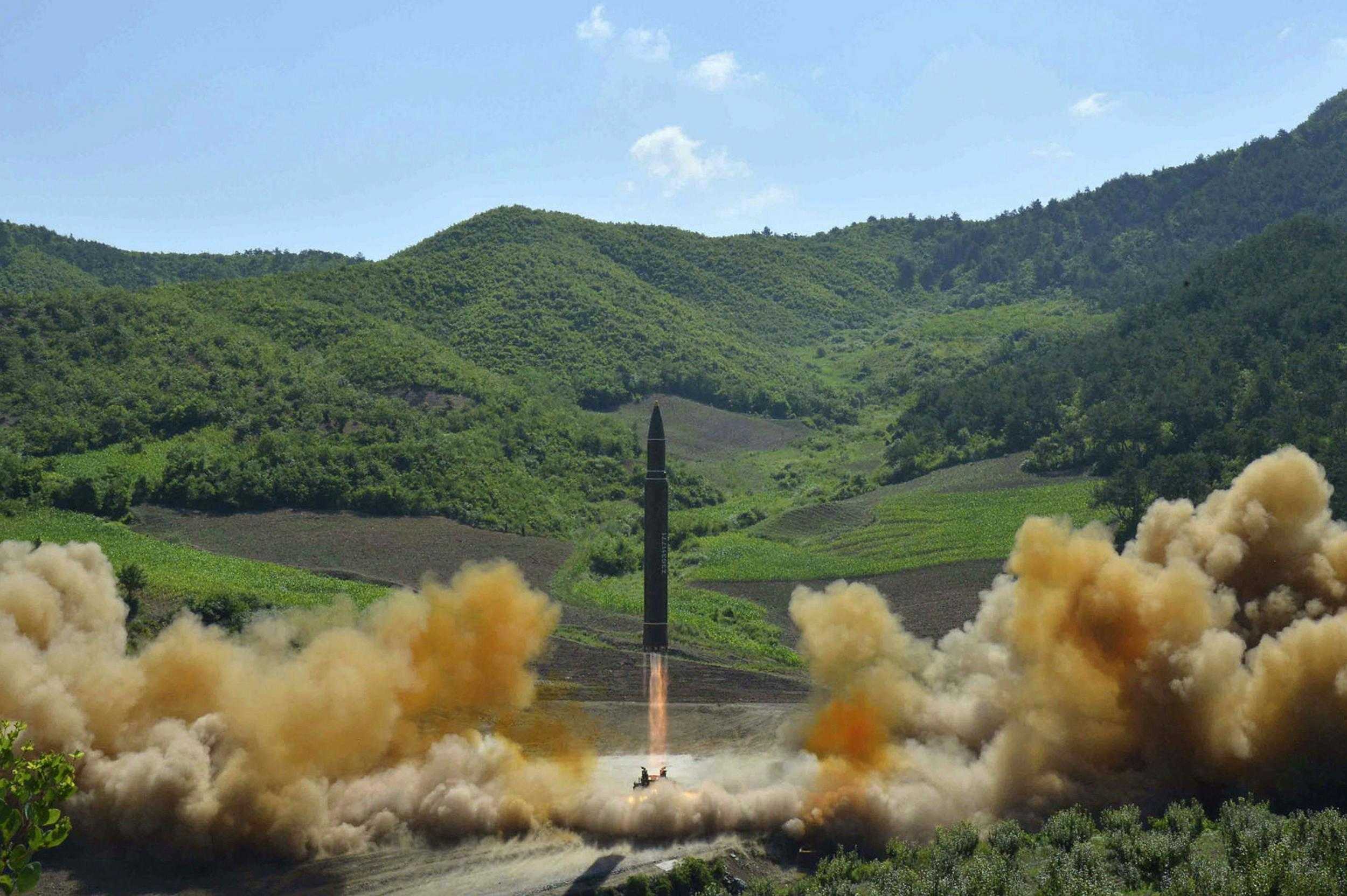 North Korea launches ballistic missile: