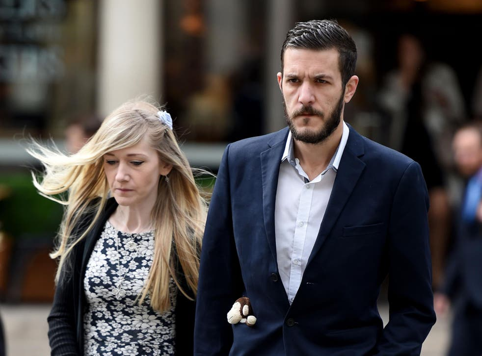Charlie Gard's parents Connie Yates and Chris Gard arrive at the Royal Courts of Justice this morning