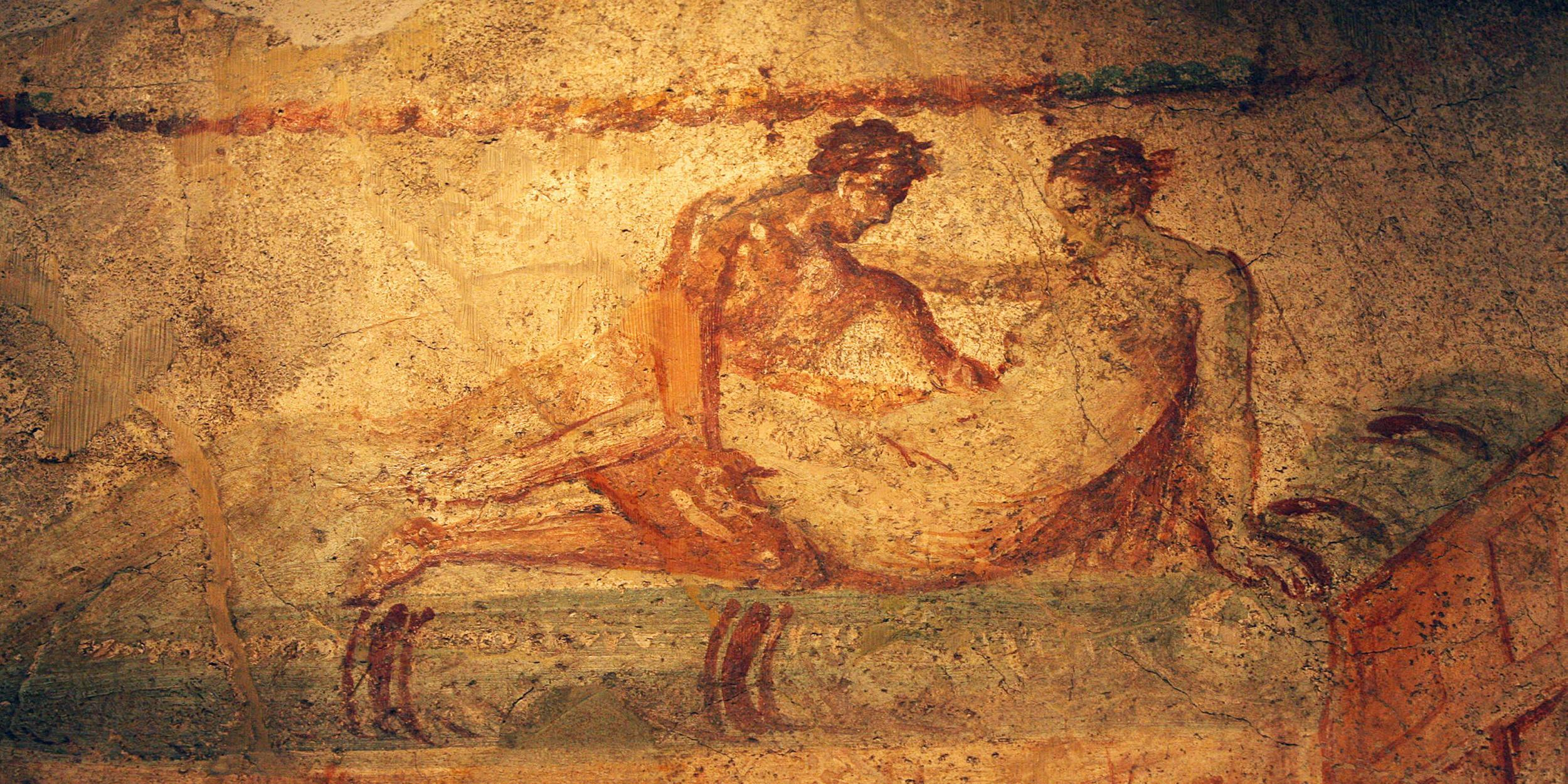Ancient Sex Drawings - An expert believes that gay porn at Pompeii could change how ...